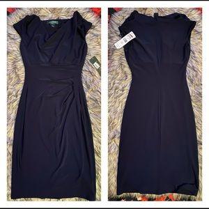 Brand New!! Ralph Lauren Navy Blue Dress Size 0P